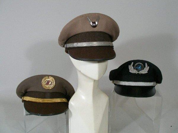 210: Group of Nine Vintage Misc. Airline Co-Pilot Hats,