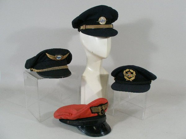 224: Group of Twelve Vintage Foreign Air Line Hats,