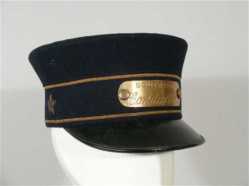 238  Vintage Southern Railroad Conductor Hat 1c24c02d347