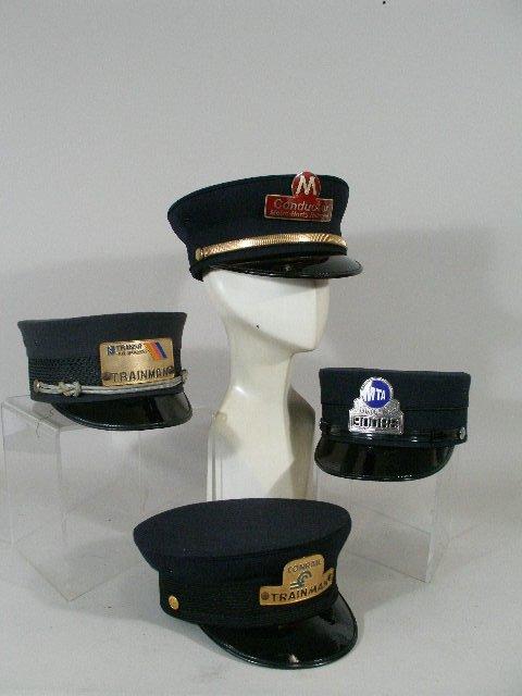 256: Four Vintage  NY/NJ Railroad Hats,