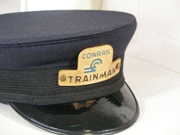 256: Four Vintage  NY/NJ Railroad Hats, - 2