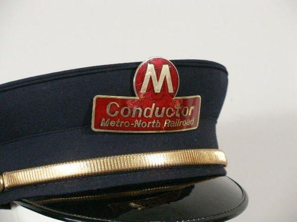 256: Four Vintage  NY/NJ Railroad Hats, - 3