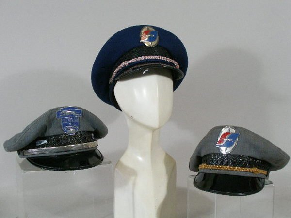 276: Five Vintage Greyhound Bus Driver Hats,