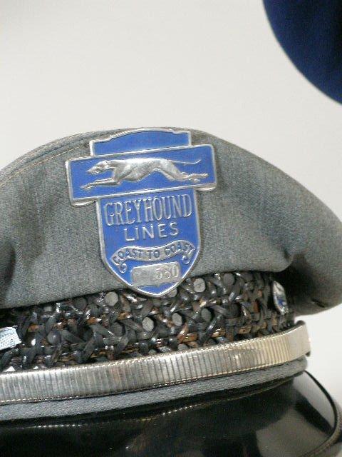 276: Five Vintage Greyhound Bus Driver Hats, - 2
