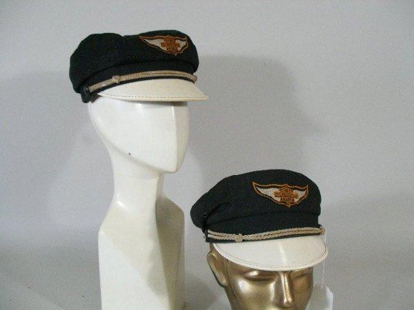 291: Two Vintage 1950s Harley Davidson Hats/Caps,