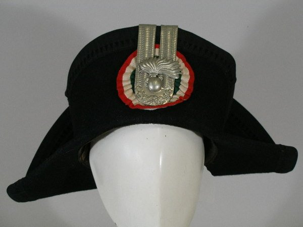 315: Italian Police Three Corner Hat, 1960s,
