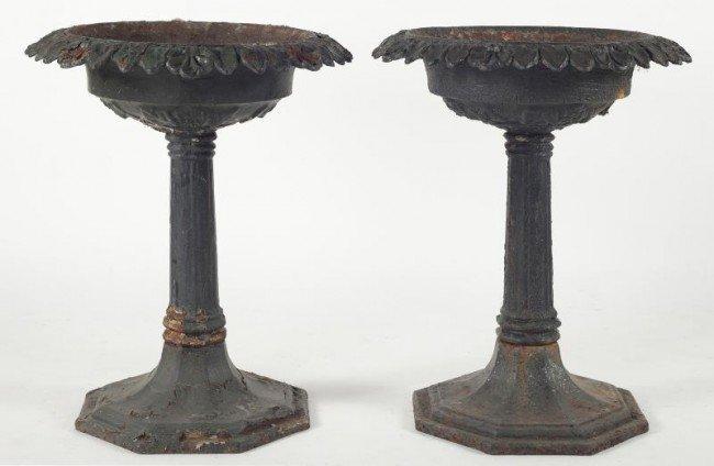 1: Pair of Victorian Cast Iron Garden Planters