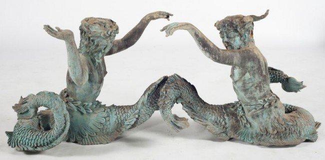 8: Cast Metal Figural Garden Statue