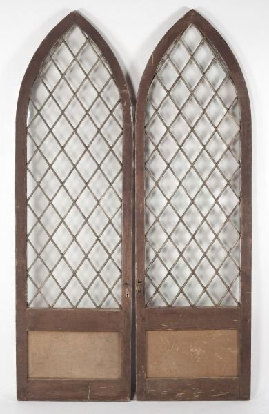 9: Pair of Gothic Arched Doors