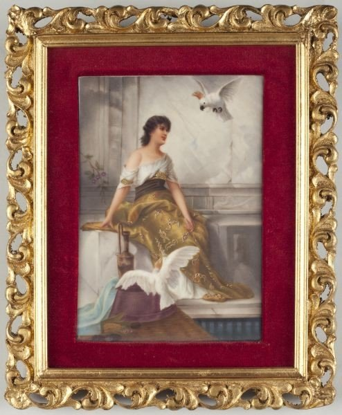 14: German Painting on Porcelain Plaque