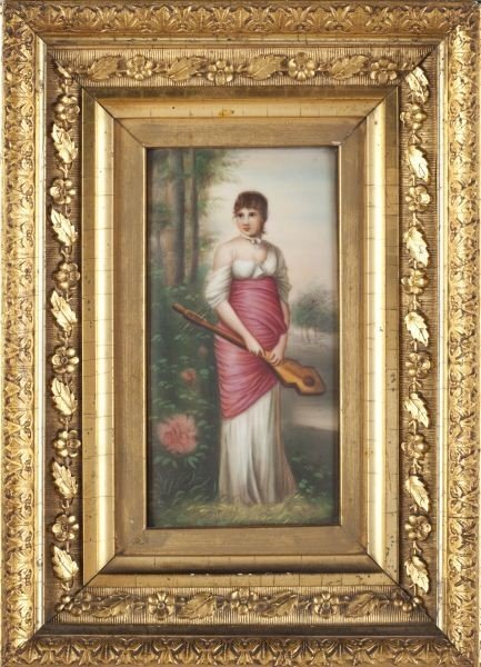 16: French Painting on Porcelain Plaque