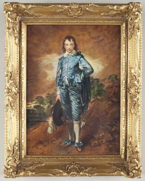 17: Bavarian Porcelain Plaque of Blue Boy