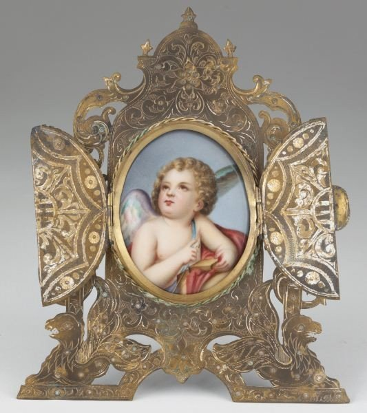 23: Porcelain Plaque in Tabernacle Frame