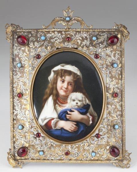 24: German Porcelain Portrait Plaque