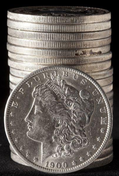 581: Roll of Uncirculated Morgan Silver Dollars
