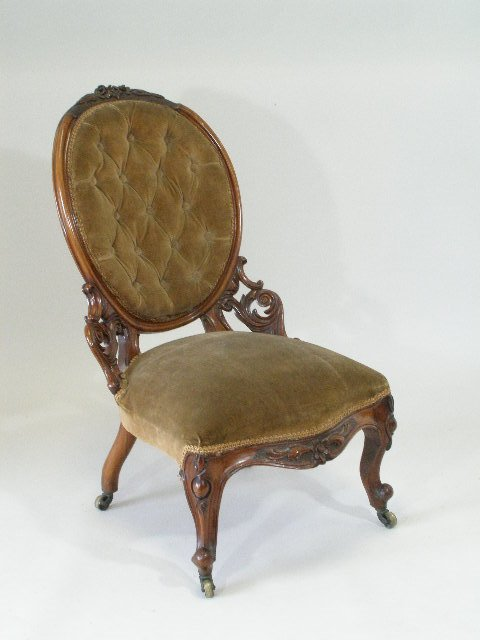 1016: Parlor Chair, English, Louis XV-style,