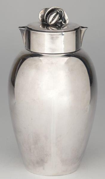 2: Danish Silver Cocktail Shaker by Evald Nielsen