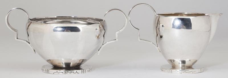 3: Frantz Hingelberg Sterling Silver Creamer & Sugar