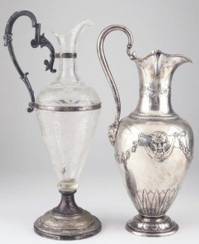4: Two Continental Claret Jugs, 19th century