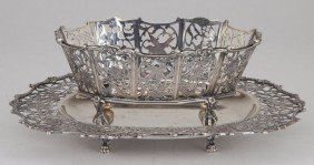 5: Dutch Silver Sweetmeat Basket with Tray