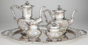6: Sterling Silver Tea & Coffee Service, German