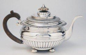 British Colonial Silver Teapot, Circa 1810