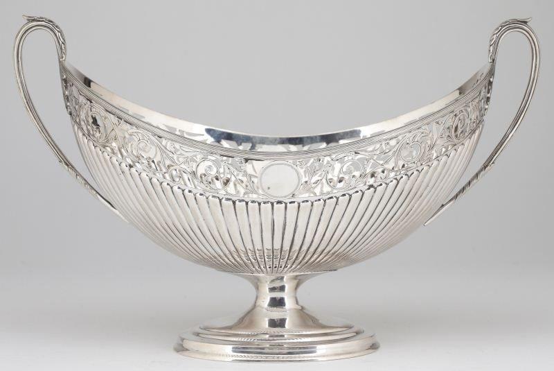 20: Continental Silver Fruit Basket, circa 1800