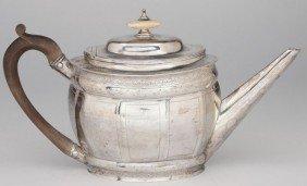 21: George III Sterling Silver Teapot