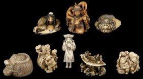 58: Eight Japanese Ivory Netsukes