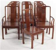 108: Set of Twelve Chinese Art Deco Dining Chairs