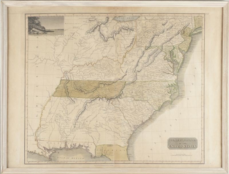 """227: Map, """"The Southern Provinces of the United States"""""""