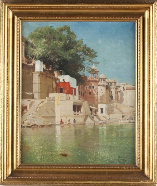 499: John Gleich (German, b. 1879), Along the Ganges