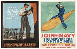 608: Two Original American WWI Posters