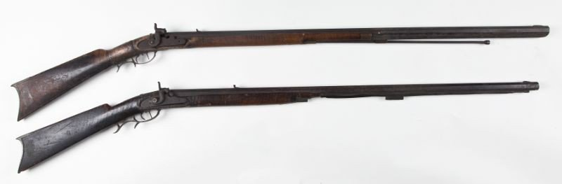 4: Two 19th century Percussion Rifles, Possibly NC