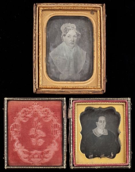 9: Two Cased Daguerreotypes of Paintings