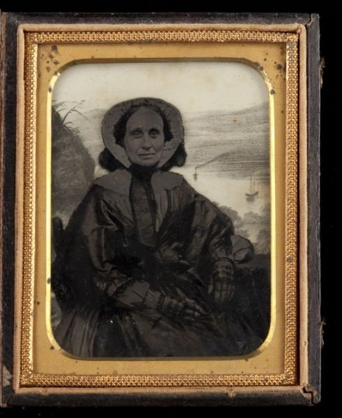 12: Relievo Quarter Plate Ambrotype of an Older Woman