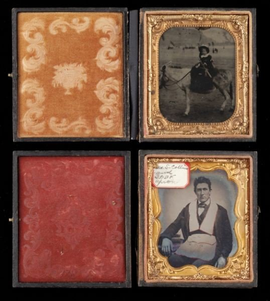 13: Two Cased Sixth Plate Topical Ambrotypes