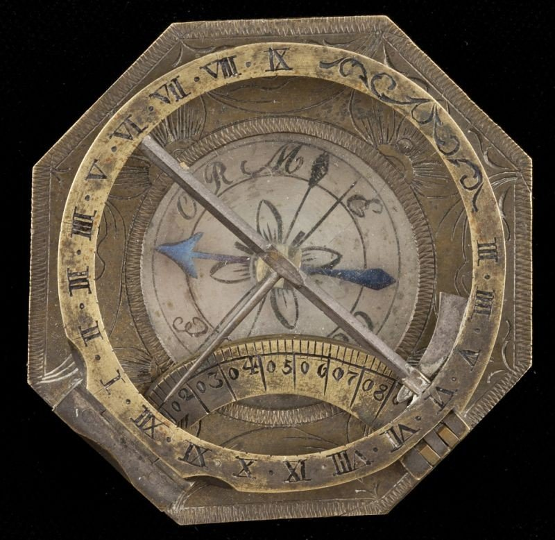 16: 18th century Equatorial Sundial with Compass
