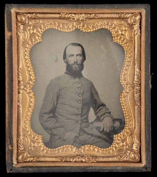 22: NC Confederate Soldier Sixth Plate Ambrotype