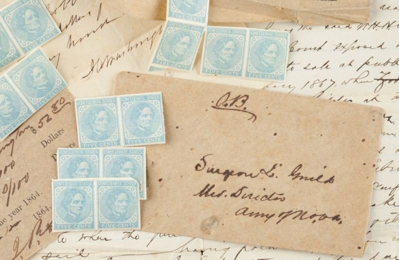 24: Confederate Surgeon's Stamps and Related Archive