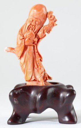 166: Chinese Red Coral God of Longevity