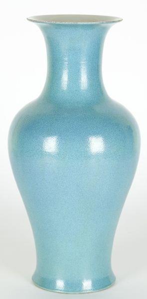 183: Chinese Porcelain Robin's Egg Baluster Vase