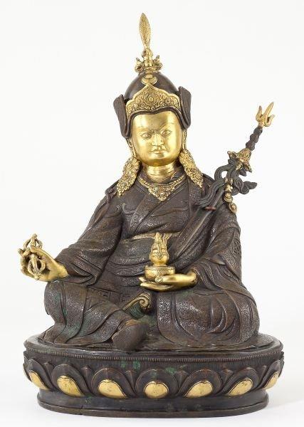 187: Sino-Tibetan Gilt Metal Buddha