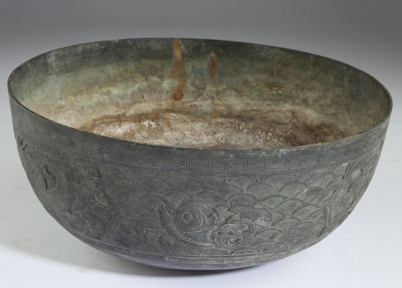 189: Antique Chinese Bronze Bowl - 3