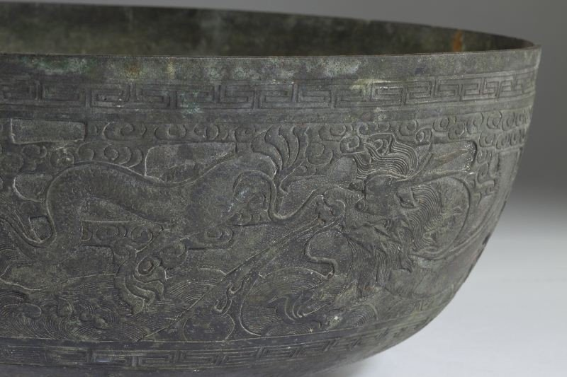 189: Antique Chinese Bronze Bowl - 4