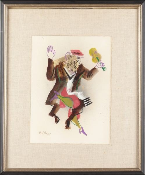 674: William Gropper (NY, 1897-1977), Ascetic Dance