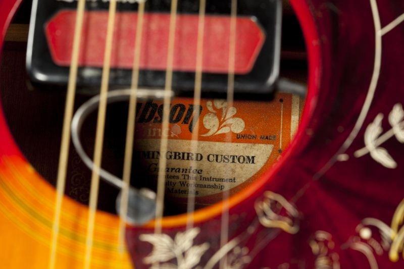 696: 1974 Gibson Hummingbird Flat Top Guitar - 4