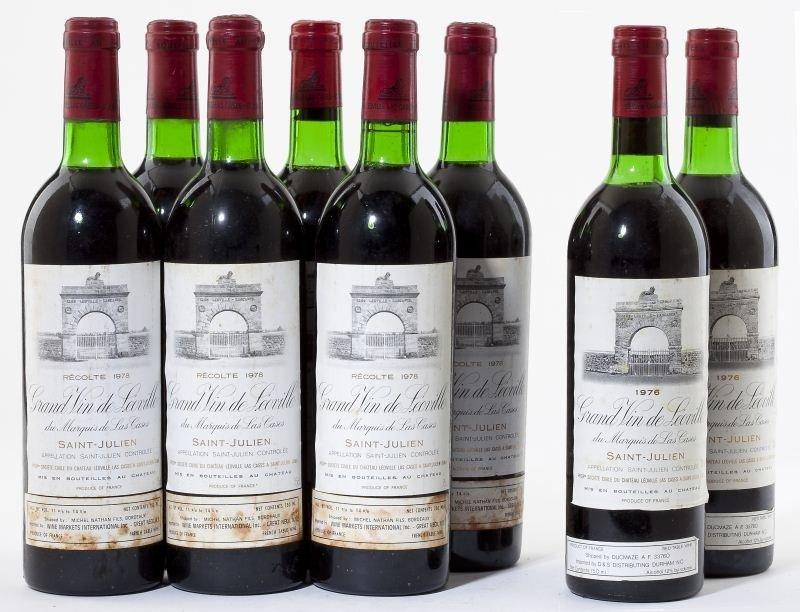 4023: 1976 & 1978 Chateau Leoville Las Cases