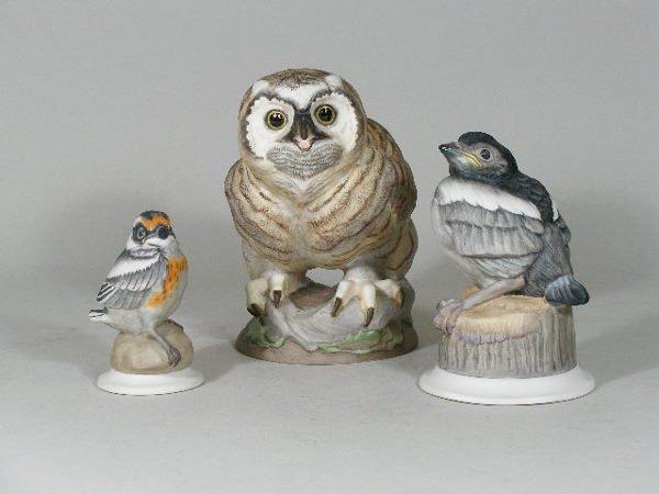 4: Three Boehm Porcelain Fledglings,