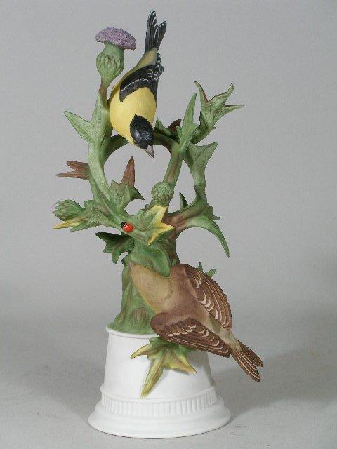 "12: Boehm Porcelain ""Goldfinches"", Limited Edition,"
